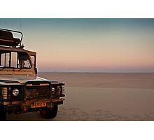 Drive to the edge of sundown Photographic Print