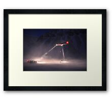 Super Puma Rescue Operation Framed Print