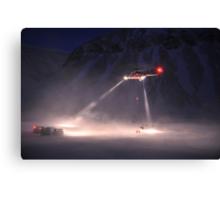Super Puma Rescue Operation Canvas Print
