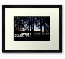 Guess Who - reflecting Framed Print