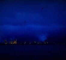 Nightfall on the Pamlico by Lea  Weikert