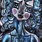 FEELING BLUE by Barbara Cannon  ART.. AKA Barbieville