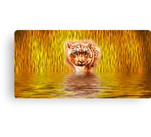 Tiger Upon Reflection Canvas Print