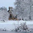 ~ All Saints' Church in the snow by Christopher Cullen