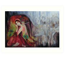 Twilight Drizzles  Art Print