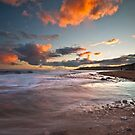 Charmouth coast at sunset by Shaun Whiteman