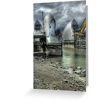 Open Barrier 9 - Thames Barrier in Greenwich Greeting Card