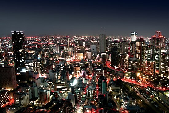 Osaka city by Night by Nasko .