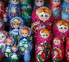 Matrioshka, russian set of dolls by Nasko .