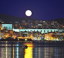 Fishing in the moonlight by FOTIS MAVROUDAKIS