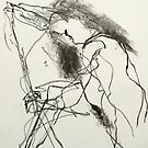 woman with stick by donnamalone