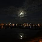 St Kilda - moonlight by the pier by paxamour