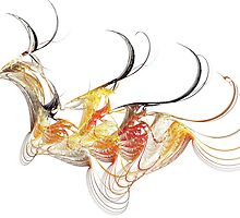 Flightless Fractal Bird by cofiant