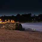 Blackmans Bay Beach at Night by nickgreenphoto