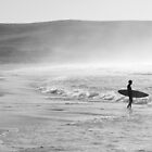 Alone Surfer by nickgreenphoto