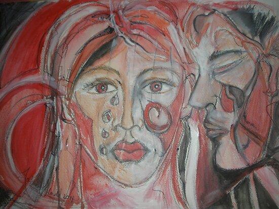 A Permanent Tear  II by Anthea  Slade