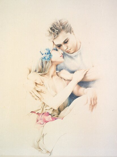 """Tender Moments"" Colour Pencil Art by Sara Moon"
