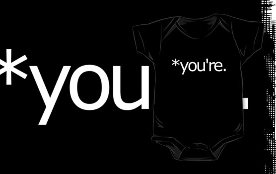 *you're. Grammar Nazi T Shirt! by loveaj