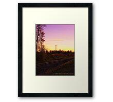 Rural Tracks (Columbia Falls, Montana, USA) Framed Print