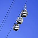 Cable Cars Above Matlock Bath by Rod Johnson