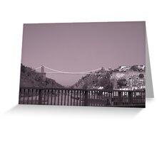 Clifton suspention bridge B/W Greeting Card