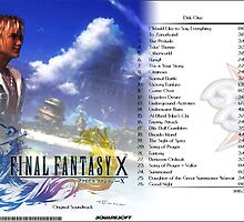 Final Fantasy X Soundtrack - CD Cover by slicepotato