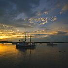 Pine Point, Maine Sunset (3) - August 2010 by Greg Fahey