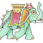 Deco Elephant by Grumpology