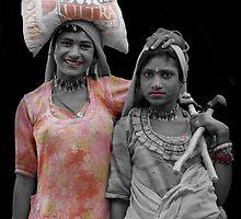 Gipsies of Jaisalmer - Rajasthan India by Bev Pascoe