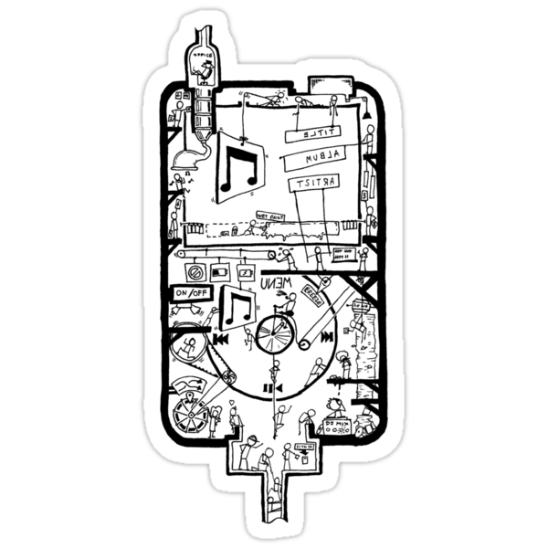 Inside Your iPod Sticker by Jonny Eveson