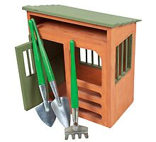 Garden Shed with Tools by Penywise