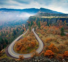 Autumn Hairpin Turn by DawsonImages