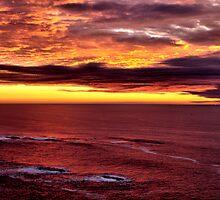 Winter Sunset Otter Rock Oregon  by Don Siebel
