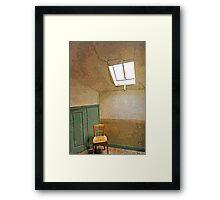 La tristesse durera toujours.  Vincent Van Gogh's room Framed Print