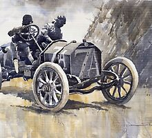 Isotta Fraschini 50HP 1908 Targa Floria  by Yuriy Shevchuk