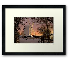 Oldlands Windmill in the snow - Hassocks Framed Print