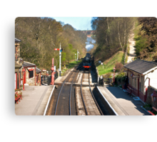 Approaching Goathland Station Canvas Print