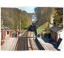 Approaching Goathland Station Poster