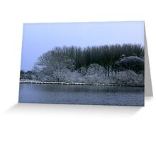 The Pond in Winter Greeting Card