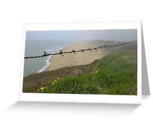 South beach, Ballygarrett Greeting Card