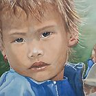 aquarelle portrait enfant by AlineGason Aline