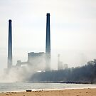 Sheboygan Power Plant - Lake Michigan 2 by KatsEye