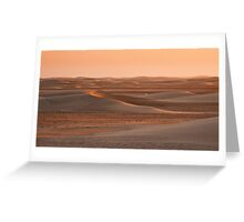 Last rays of sand Greeting Card