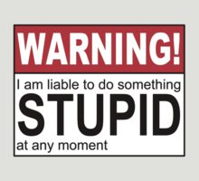 Warning Stupid by Iain Maynard
