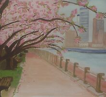 Sweet Cherry Blossom by Louise Griffiths