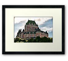 Chateau de Frontenac in Quebec City, Canada Framed Print
