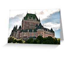 Chateau de Frontenac in Quebec City, Canada Greeting Card