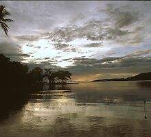 Truk Lagoon at Dusk by Jeremiah Keenehan