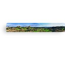 Panorama of Tuscania - San Pietro and Fields Canvas Print