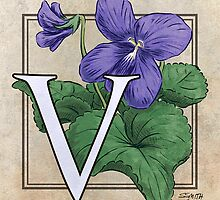 V is for Violet card by Stephanie Smith